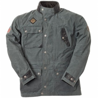 Chaquetas moto Ride & Sons Escape Waxed Anthracite