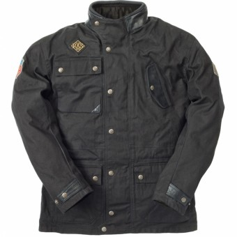 Chaquetas moto Ride & Sons Escape Waxed Black