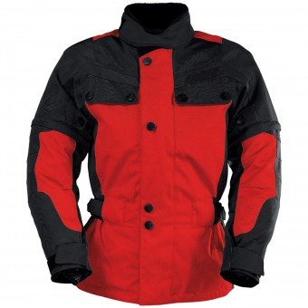 Cazadora moto IXS Explorer Jacket II Black Red Kid