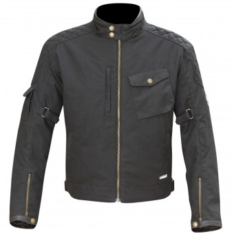 Cazadora moto Merlin Hamstall Wax Cotton Black