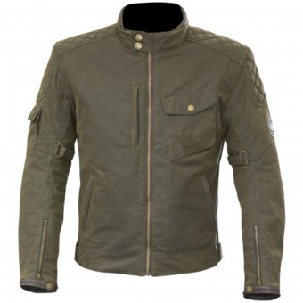Cazadora moto Merlin Hamstall Wax Cotton Brown
