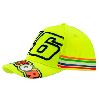 Gorras Moto VR 46 Cap Kid Stripes Amarillo