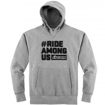 Jerseys Moto ICON R.A.U. Hoody Charcoal