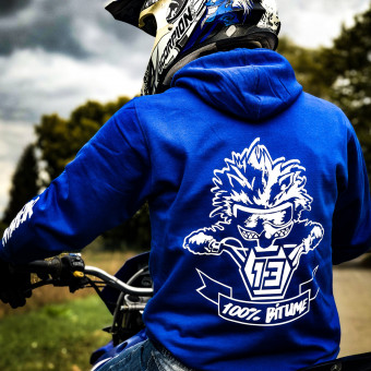 Jerseys Moto 100% Bitume Hoodie Asphalt Blue