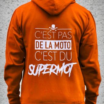 Jerseys Moto Kikaninac Hoodie Supermot Orange