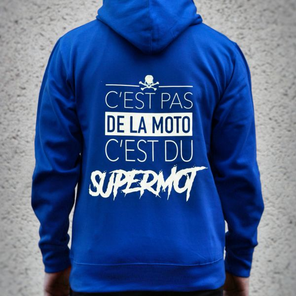 Jerseys Moto Kikaninac Sweat Hoodie Supermot Azul