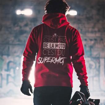 Jerseys Moto Kikaninac Sweat Hoodie Supermot Rojo