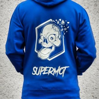 Jerseys Moto Kikaninac Sweat Hoodie Supermot Skull Azul
