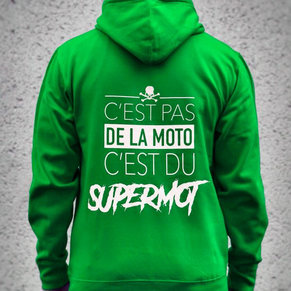 Jerseys Moto Kikaninac Sweat Hoodie Supermot Verde