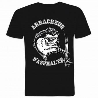 Camisetas Moto 100% Bitume Arracheur d'Asphalte Noir