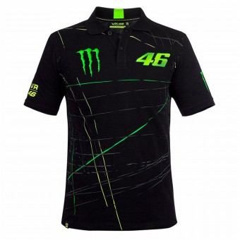 Camisetas Moto VR 46 Polo Monster DBTC Black