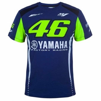 Camisetas Moto VR 46 T-Shirt Yamaha Racing Blue VR46