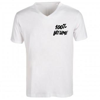 Camisetas Moto 100% Bitume Asphalt White