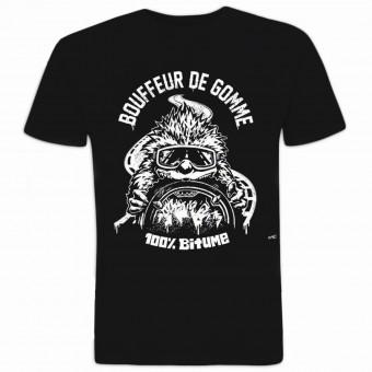 Camisetas Moto 100% Bitume Bouffeur de Gomme Noir