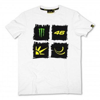 Camisetas Moto VR 46 Monster White VR46