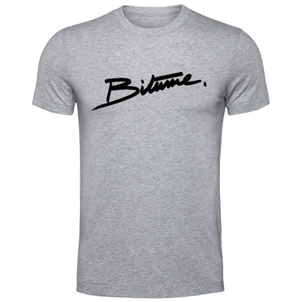 Camisetas Moto 100% Bitume Signature Big Grey