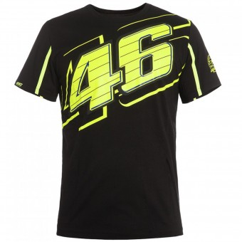 Camisetas Moto VR 46 T-Shirt Black Yellow VR46