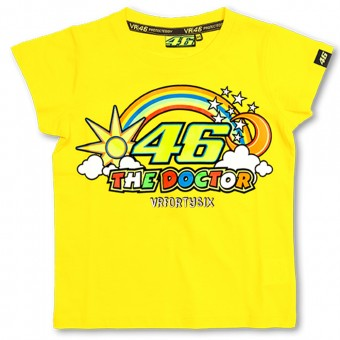 Camisetas Moto VR 46 T-Shirt Kid Yellow VR46