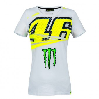 Camisetas Moto VR 46 T-Shirt Lady Monza Monster VR46 Blanca