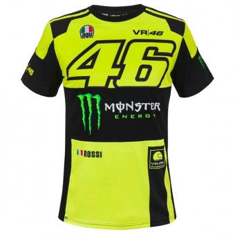 Camisetas Moto VR 46 T-Shirt Replica Monster VR46 Amarillo Fluo