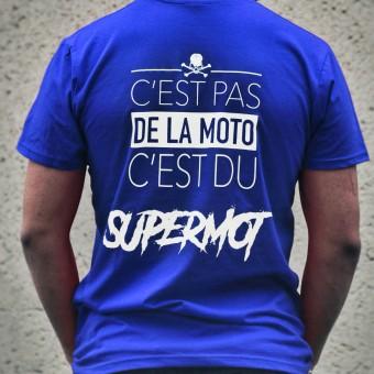 Camisetas Moto Kikaninac T-Shirt Supermot Azul