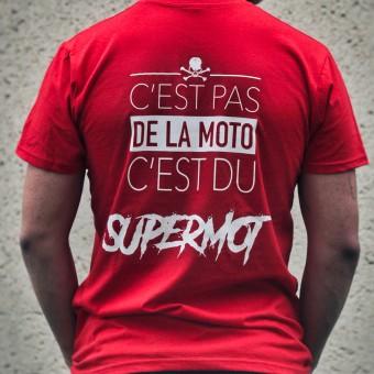 Camisetas Moto Kikaninac T-Shirt Supermot Rojo