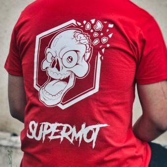 Camisetas Moto Kikaninac T-Shirt Supermot Skull Rojo