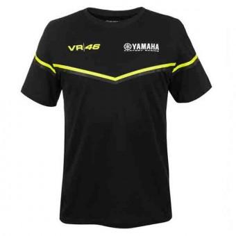 Camisetas Moto VR 46 T-Shirt Yamaha VR46 Negra