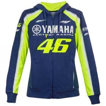 Chaquetas VR 46 Hoodie Zip Lady Racing Yamaha VR46 Azul